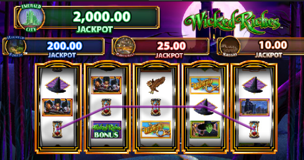 Wizard of OZ Wicked Riches free slots game guide