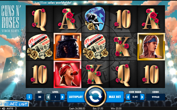 Free guns n roses pokies slot machine